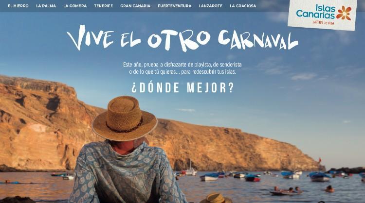 Una de las imágenes de «Vive el otro carnaval», nueva oleada de la campaña «Islas Canarias, ¿dónde mejor?» dirigida al turismo interno