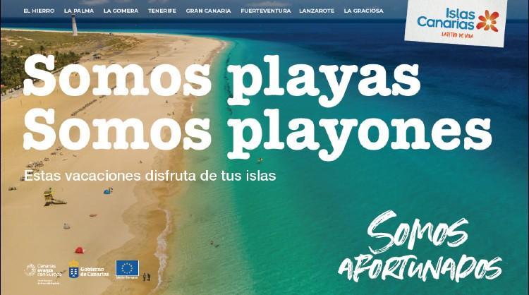 """Una de las imágenes de la campaña """"Somos afortunados"""" de Islas Canarias dirigida al turismo interno"""