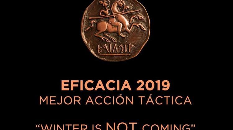 """La acción promocional """"Winter is not coming"""" recibe un bronce en los Premios Eficacia 2019"""