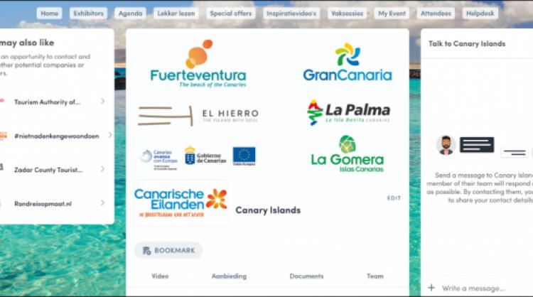 Las Islas Canarias participan en la feria Vakantiebeurs.